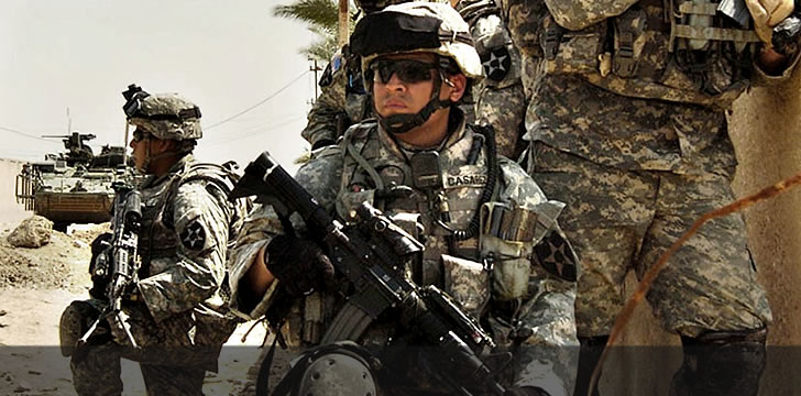 Mexican American soldiers at combat during Iraq War