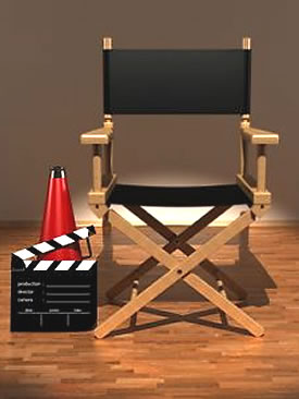 Hollywood director's chair