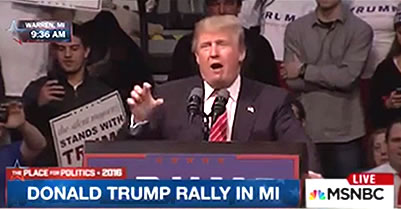 Trump Supporters In Michigan Erupt Into 'Build The Wall!' Chants