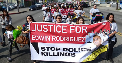Hundreds March In Edwin Rodriguez' Funeral Demanding Justice