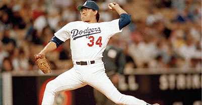 Los Angeles Dodgers pitcher Fernando Valenzuela