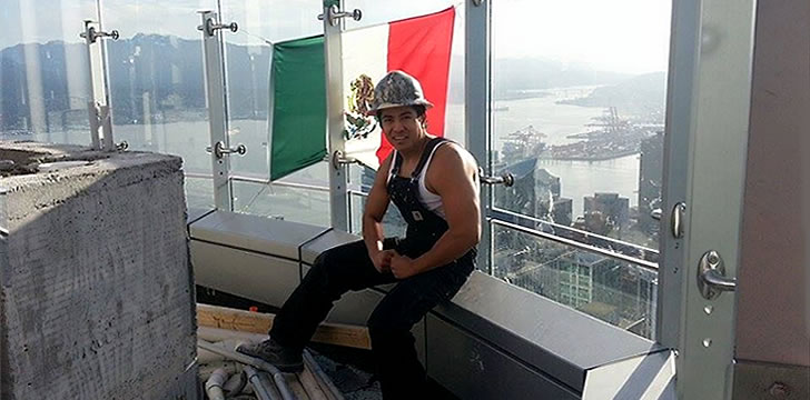 Diego Saul Reyna climbs Trump Hotel and Tower in Vancouver, Canada to send Donald Trump a message