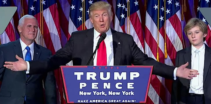 Donald Trump Is Elected 45th President of the U.S.A.