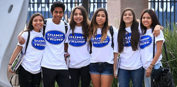 CA Latino high school students win battle to wear Dump Trump shirts to school